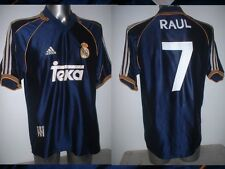 Real Madrid RAUL Shirt Adidas Adult Large Jersey Football Soccer Spain Maglia P