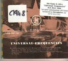 (CK3) His Name Is Alive, Universal Frequencies - 1996 DJ CD
