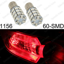2 PCS Brlliant Red 1156 1619 1651 1680 3496 7506 60-SMD LED Backup Reverse Light