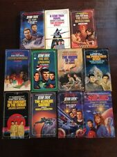 Lot of 11 Star Trek Paperback Books Good Vintage Sci-Fi