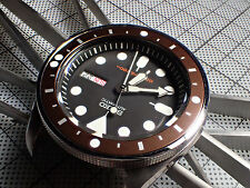 FIVE.DOTS.ONE COFFE CUSTOM BEZEL INSERT F. SEIKO SKX WITH 5 LUMINOUS DOTS Z-02-F