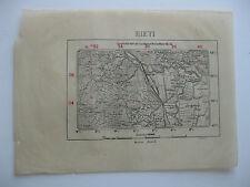 antica mappa carta RIETI GRECCIO LAGO DI RIPA SOTTILE MONTISOLA CHIUSE REOPASTO