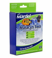 FRITZ MARDEL MARACYN TWO POWDER PACKET 24CT FRESH OR SALT FREE SHIP TO THE USA