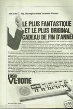 Publicité advertising 1981 Le Mini Clavier VL-Tone Casio