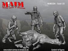 MAiM 1/35 Zombie Wars - Cow Massacre (3 figures & 1 Dead Cow)