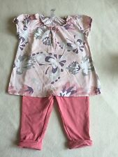 Baby Girls Clothes 6-9  Months - Pretty Outfit - Tunic & Jeggings Trousers
