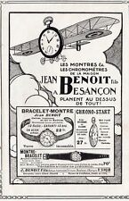 MONTRES CHRONO JEAN BENOIT BESANCON 1917 FRENCH AD PUBLICITE PUB