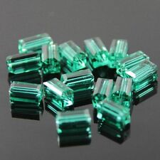 20pcs Swarovski  4x4x8mm Cuboid Crystal beads D Peacock-green