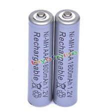 2pcs 1.2V Ni-MH AAA Rechargeable battery 1800mAh Grey Cell for MP3 RC Toys