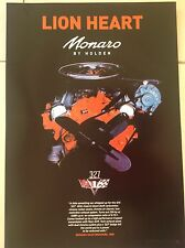 RARE  HOLDEN MONARO ENGINE GTS 327 ,1968 RACING POSTER,V8 MOTOR COLLECTORS