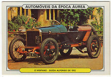1986 Portugese Pocket Calendar Featuring Vintage Car- Hispano-Suiza Alfonso 1912