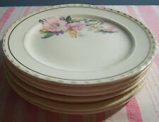 6 Crooksville China Pink Blossom Bread Plates 6""