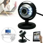 12.0Mega USB 6 LED Webcam Web Cam Camera w/ Mic Micphone for Laptop Mac Skype SD