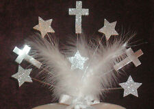 BAPTISM / CHRISTENING CAKE TOPPER WITH CROSS / COMMUNION