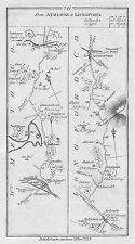 1778 Ireland Athlone Ballymahon Longford Lanesborough etc Antique Road Map