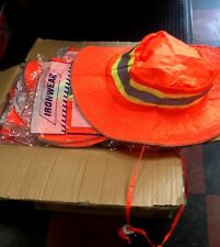 100 pc CASE Ironwear BOONEY SAFETY HATS  Fluorescent Orange Silver Reflective
