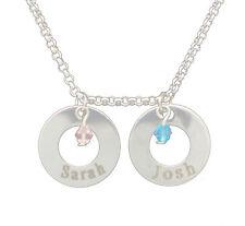 Doppio Anello argento gioiello personalizzato nome inciso Regalo D'Amore Collana Gioielli