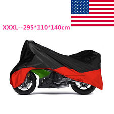 Motorcycle XXXL Red Outdoor Indoor Cover Storage for Harley Street Glide