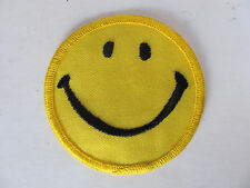 Vintage Smiley Face Embroidered Patch 1970's 70s New NOS