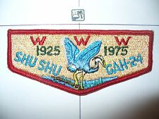 OA Shu Shu Gah 24,S-8,1925- 1975, 50th Ann Lodge,PCH,Blue Heron Flap,Brooklyn,NY