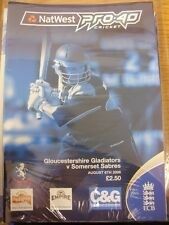06/08/2006 Cricket Programme: Gloucestershire v Somerset [Pro-40] . Thanks for t