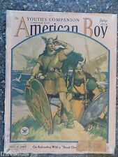 American Boy Magazine  July 1934  Albin Henning Leif Ericson Cover  VINTAGE ADS