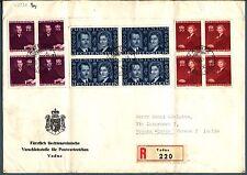 LIECHTENSTEIN - 1943 – Matrimonio del Principe regnante quart. su raccomandata