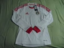 Adidas Mexico 2013 Long Sleeve Third Jersey Formotion - White/Red - Player Issue