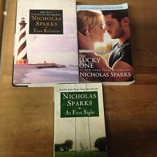 nicholas sparks 3 book lot (at first sight / the lucky one / true believer )