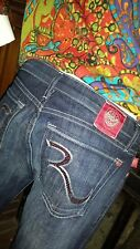 Brand NEW/UNUSED Rock and Republic RED Crystal R Blue Jeans Size 30 Womens