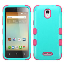 For Alcatel OneTouch Elevate IMPACT TUFF HYBRID Case Skin Cover + Screen Guard