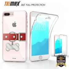 Apple IPHONE 7 PLUS DOG TAGS Cell Phone Case Slim 360 Tri Max Flexible Clear