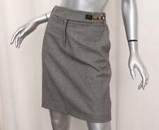 GUCCI Womens Black+White Wool Blend Houndstooth Straight Pencil Skirt 42/6 S