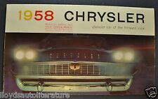 1958 Chrysler Brochure New Yorker Windsor Saratoga Town & Country Original 58