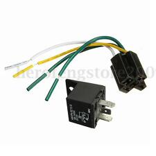 Car Auto 12V 4 Pin 4 Wire 30/40A Automotive Relay & Socket 30 amp / 40 amp New