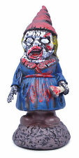 BLOODY ZOMBIE #LADY GNOME HORROR DECORATION HALLOWEEN PARTY ACCESSORY FANCY PROP