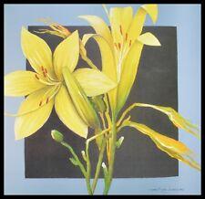 Heinz Hock giglio giallo Poster Bild Kunstdruck im Alu Rahmen in schwarz 70x70cm