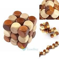 Wooden Lock Puzzle Educational Toy Gift Guadrate Box Great For Child & Adult