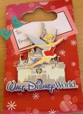 WDW- Tinker Bell with Hoilday Cinderella Castle pin # 65991 new on card