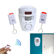 Wireless IR Infrared Motion Sensor Detector Alarm Home Security System +2 Remote