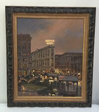 CARL FUNSETH Seattle Pioneer Square North West Artist, Original Oil Painting