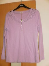 M & S Indigo Pure Cotton T-Shirt Top Size 16 RRP £19.50