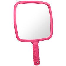 20cm Wide Pink Handheld Hairdresser Mirror Salon Barber Hair Cutting