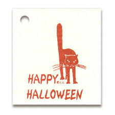 """50 *SMALL*AUTUMN CAT HANG TAGS HALLOWEEN PRICE1-1/4""""x 1-1/2"""" Crafts Kitty~Tie On"""