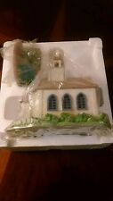 """""""SPRING VALLEY LIGHTED VILLAGE CHURCH AND BENCH"""" AVON, 2003, CHRISTMAS, EASTER"""
