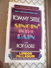 TOMMY STEELE - SINGIN IN THE RAIN -  LONDON PALLADIUM  - 1984 - ROY CASTLE