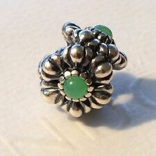 Authentic Pandora Silver Birthday Blooms Emerald May Charm 790580