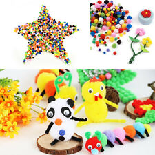 1000X Small Tiny Round Fluffy Wool Pompoms PomPoms 10mm for Childrens Crafts UQ