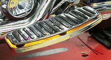 """LED Accent/Running Light Kit for """"Floating Style"""" Motorcycle Floor Boards; Amber"""