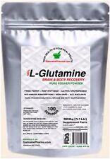500g. (1.1 Lb)100% L-GLUTAMINE FREE FORM KOSHER PURE PHARMACEUTICAL GRADE POWDER
